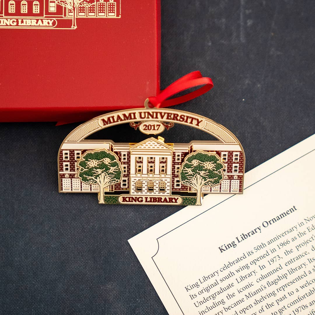 decorative pin of King Library