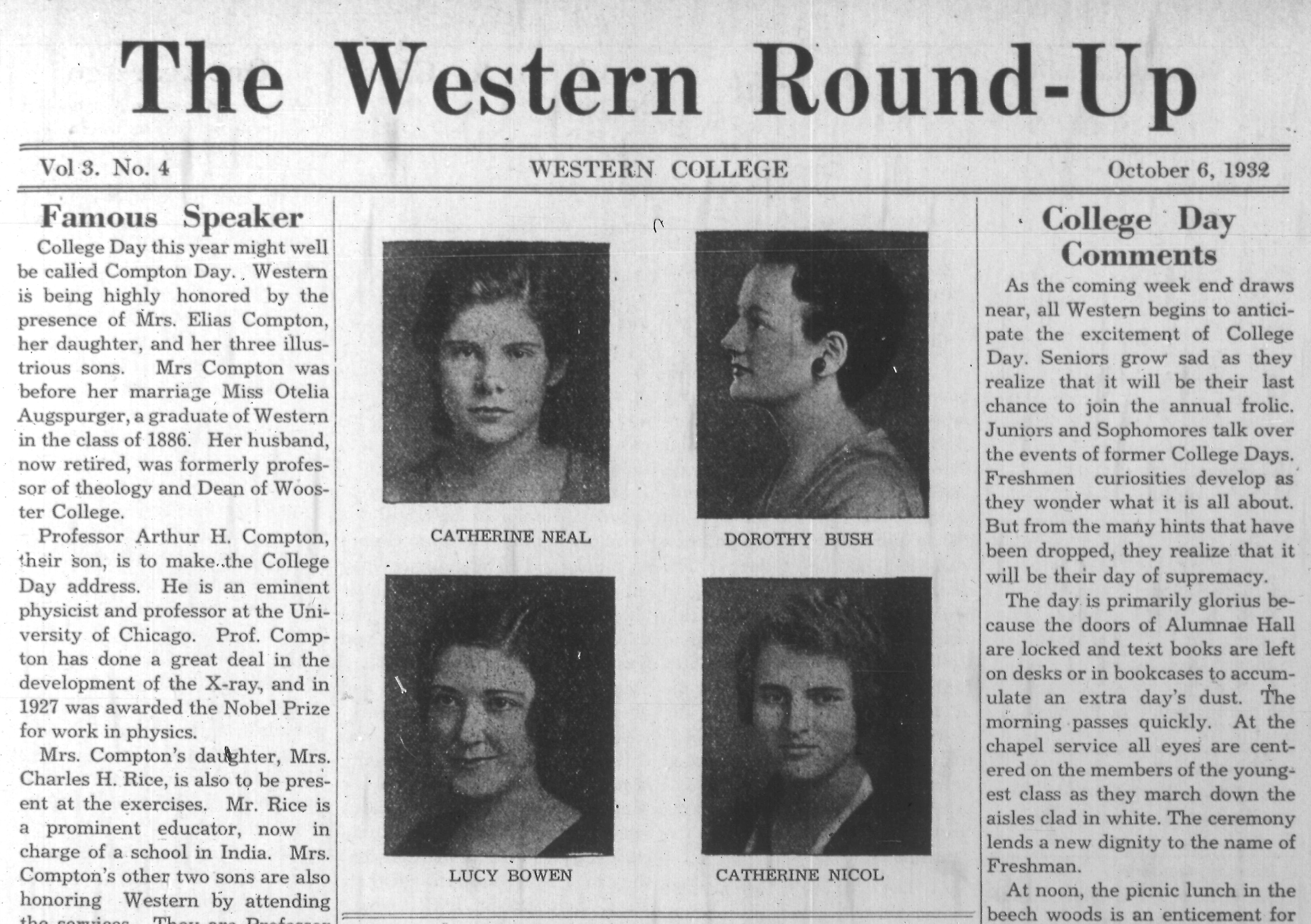 Front page of Western Round-Up newspaper