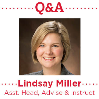 Lindsay Miller, assistant head of Advise & Instruct, participated in a question and answer session.