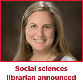 Social sciences librarian announced: head-and-shoulders portrait of Abi Morgan