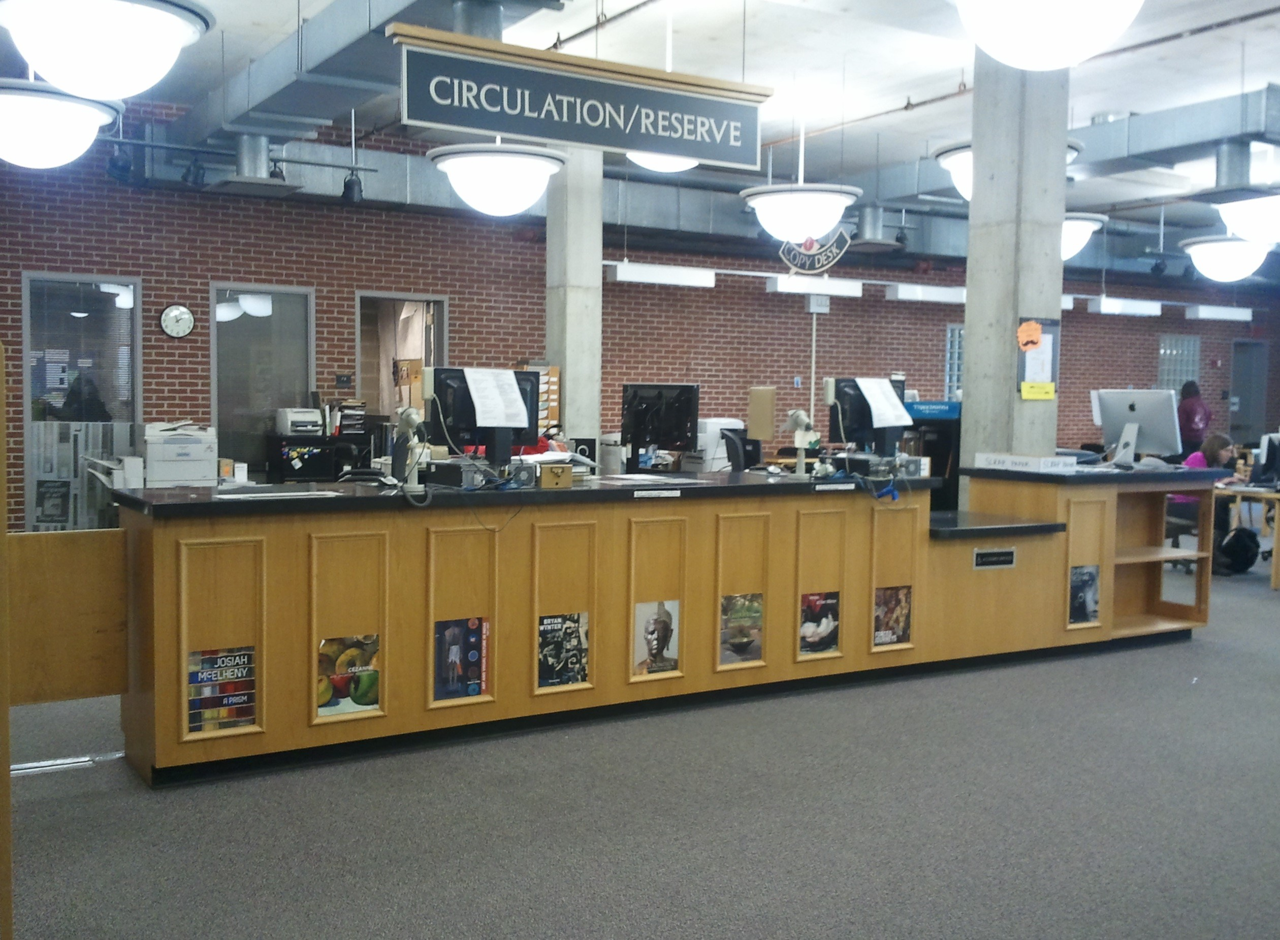Wertz Art Architecture Library Circulation Desk Photo